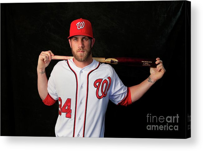 Media Day Acrylic Print featuring the photograph Bryce Harper by Rob Carr