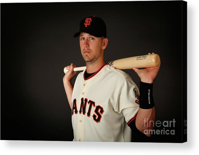 Media Day Acrylic Print featuring the photograph Buster Posey by Christian Petersen
