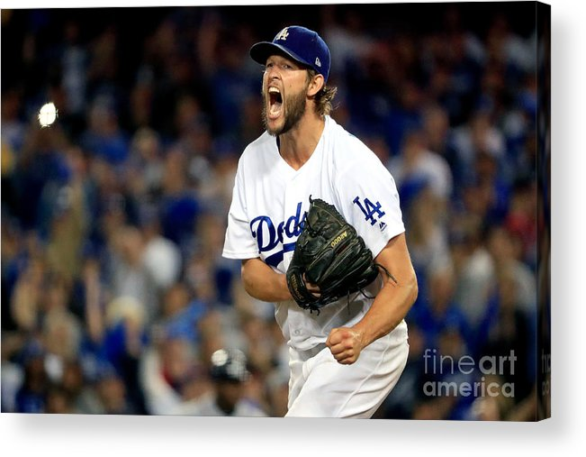 Game Two Acrylic Print featuring the photograph Clayton Kershaw by Sean M. Haffey