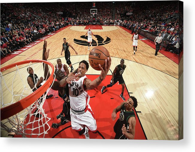 Playoffs Acrylic Print featuring the photograph Demar Derozan by Ron Turenne