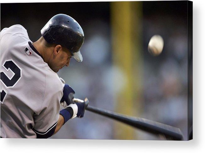 People Acrylic Print featuring the photograph Derek Jeter by Jamie Squire