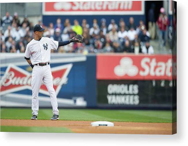 East Acrylic Print featuring the photograph Derek Jeter by Rob Tringali