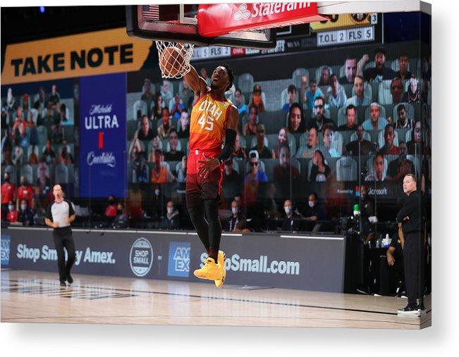 Nba Pro Basketball Acrylic Print featuring the photograph Donovan Mitchell by Joe Murphy