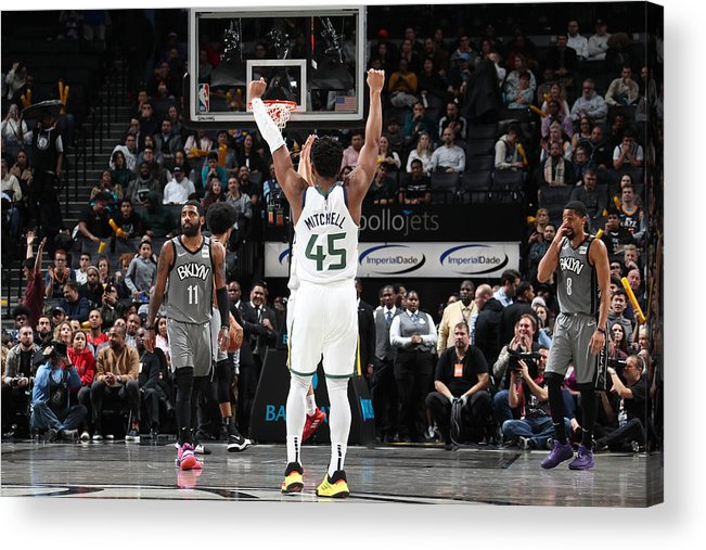Nba Pro Basketball Acrylic Print featuring the photograph Donovan Mitchell by Nathaniel S. Butler