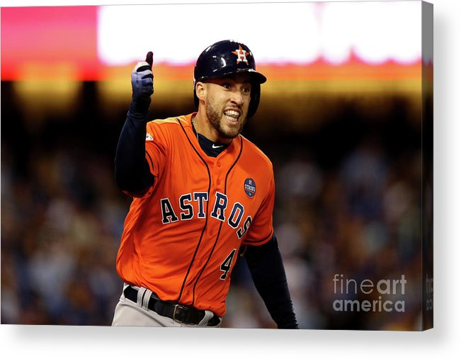 Second Inning Acrylic Print featuring the photograph George Springer by Ezra Shaw