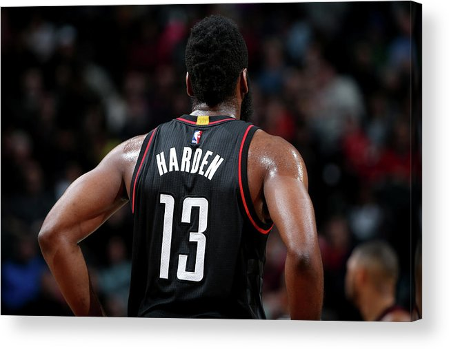 Nba Pro Basketball Acrylic Print featuring the photograph James Harden by Nathaniel S. Butler