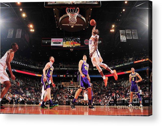 Nba Pro Basketball Acrylic Print featuring the photograph Josh Jackson by Barry Gossage
