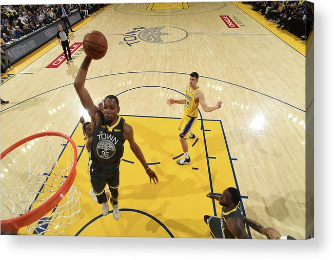Nba Pro Basketball Acrylic Print featuring the photograph Kevin Durant by Garrett Ellwood