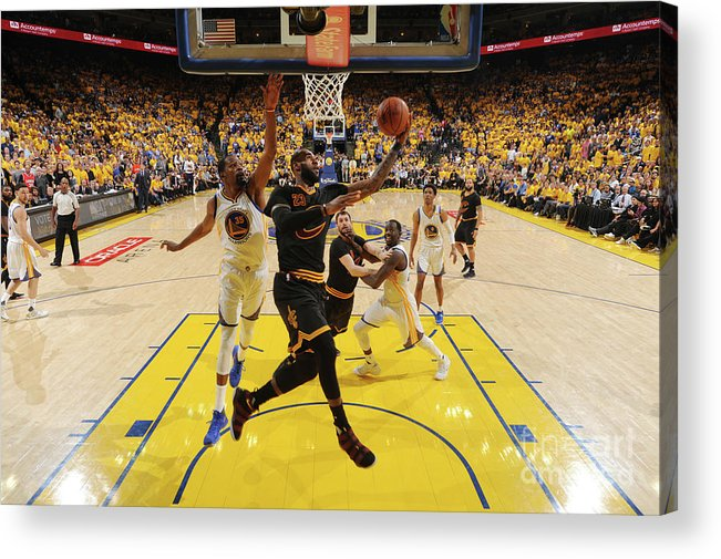 Playoffs Acrylic Print featuring the photograph Lebron James by Andrew D. Bernstein