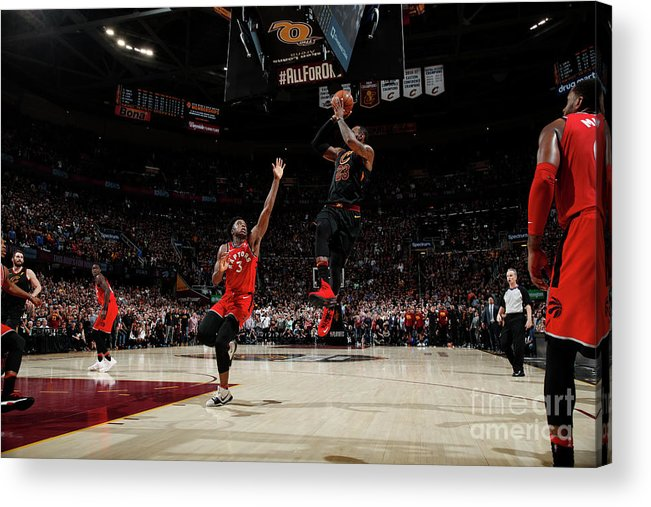 Playoffs Acrylic Print featuring the photograph Lebron James by Jeff Haynes