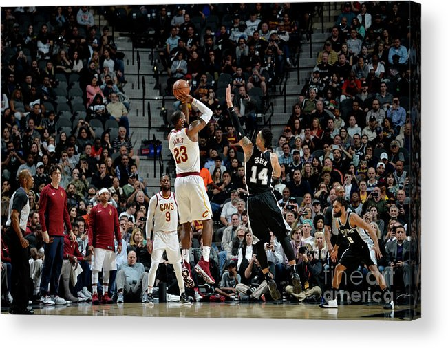 Nba Pro Basketball Acrylic Print featuring the photograph Lebron James by Mark Sobhani