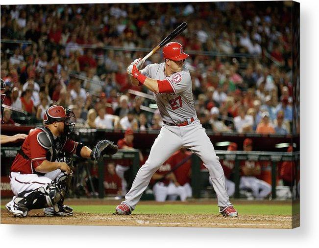 People Acrylic Print featuring the photograph Mike Trout by Christian Petersen