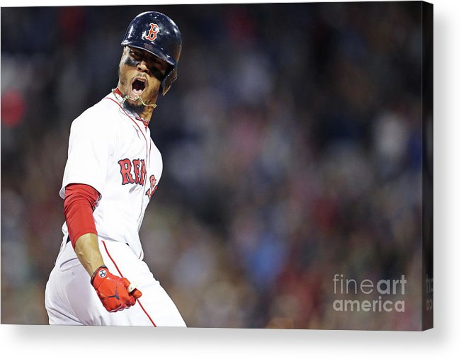 Three Quarter Length Acrylic Print featuring the photograph Mookie Betts by Maddie Meyer