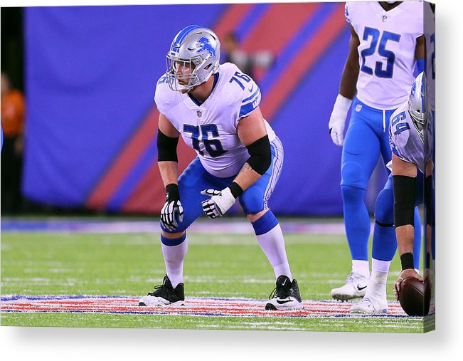 American Football Acrylic Print featuring the photograph NFL: SEP 18 Lions at Giants by Icon Sportswire