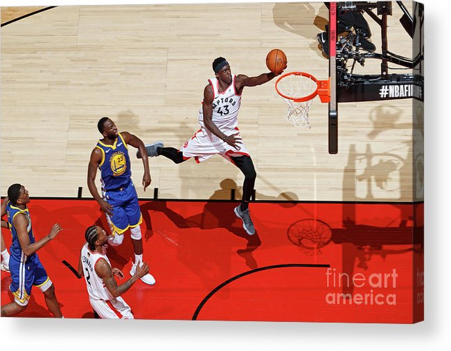 Playoffs Acrylic Print featuring the photograph Pascal Siakam by Mark Blinch