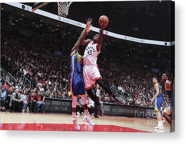 Playoffs Acrylic Print featuring the photograph Pascal Siakam by Nathaniel S. Butler