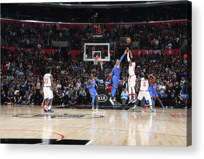 Nba Pro Basketball Acrylic Print featuring the photograph Paul George by Andrew D. Bernstein