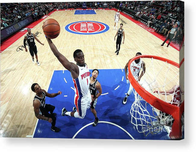 Nba Pro Basketball Acrylic Print featuring the photograph Reggie Jackson by Brian Sevald