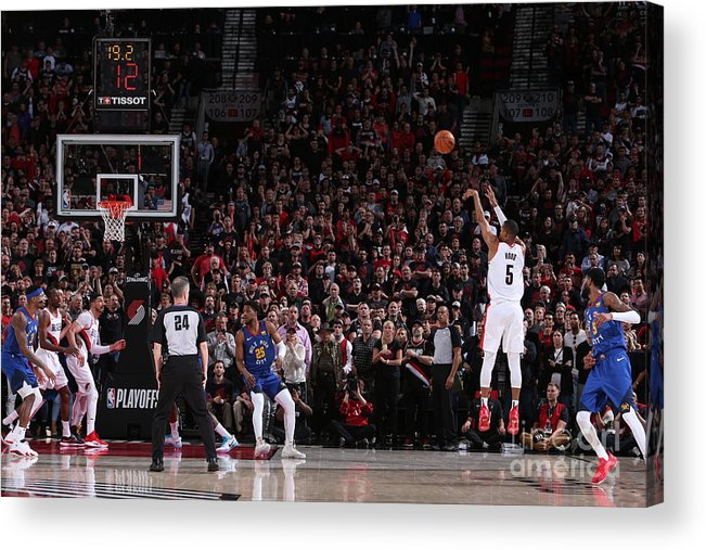 Playoffs Acrylic Print featuring the photograph Rodney Hood by Sam Forencich