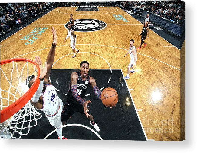 Playoffs Acrylic Print featuring the photograph Rondae Hollis-jefferson by Nathaniel S. Butler