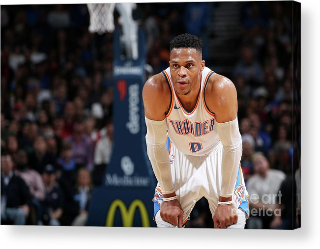 Nba Pro Basketball Acrylic Print featuring the photograph Russell Westbrook by Zach Beeker