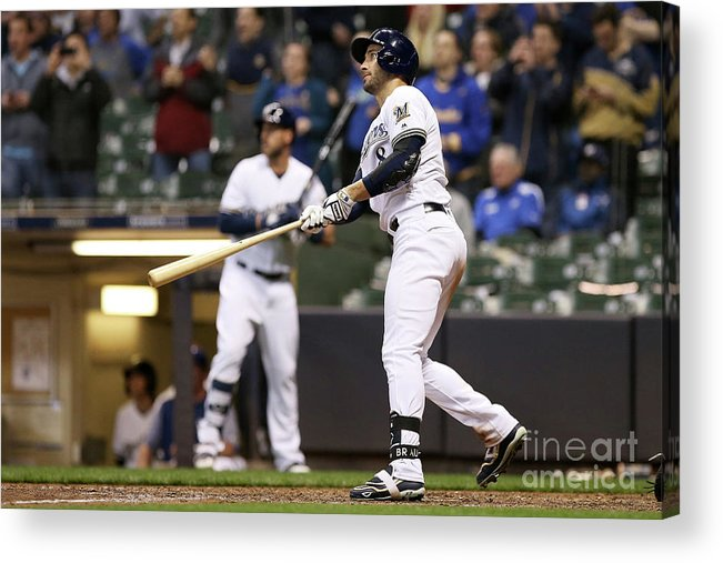 Ninth Inning Acrylic Print featuring the photograph Ryan Braun by Dylan Buell