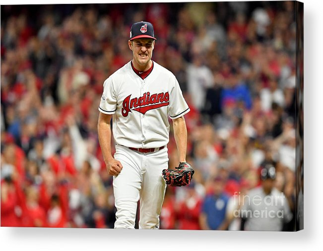 Three Quarter Length Acrylic Print featuring the photograph Trevor Bauer by Jason Miller