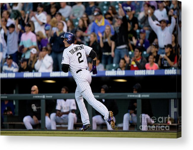 National League Baseball Acrylic Print featuring the photograph Troy Tulowitzki by Justin Edmonds