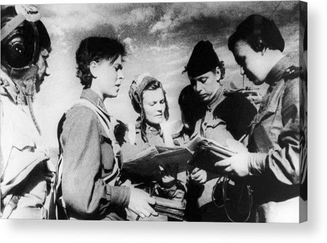 War Acrylic Print featuring the photograph World War II, 1942 by Tass