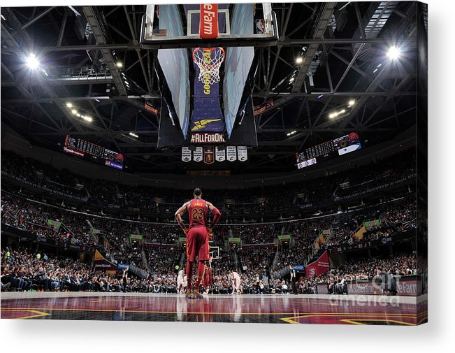 Nba Pro Basketball Acrylic Print featuring the photograph Lebron James by David Liam Kyle