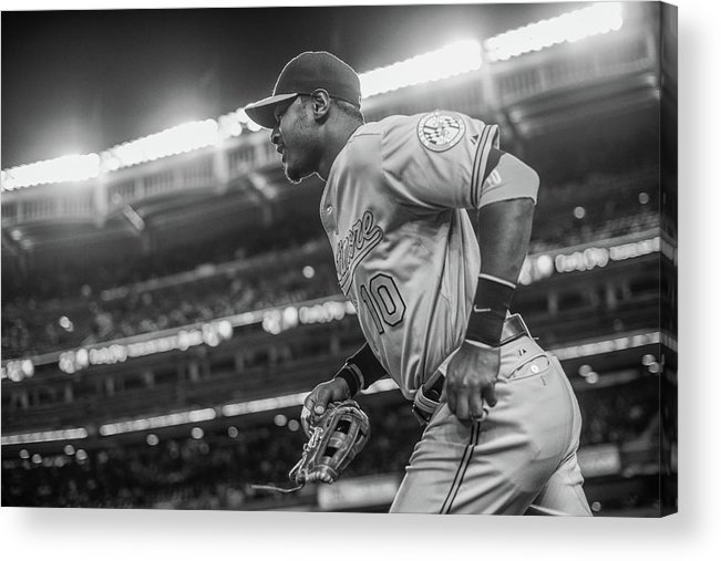 American League Baseball Acrylic Print featuring the photograph Adam Jones by Rob Tringali