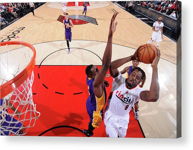 Nba Pro Basketball Acrylic Print featuring the photograph Al-farouq Aminu by Sam Forencich