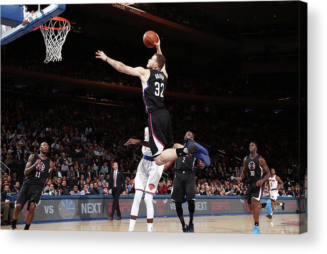 Nba Pro Basketball Acrylic Print featuring the photograph Blake Griffin by Nathaniel S. Butler