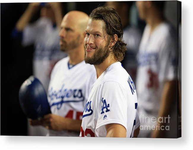 People Acrylic Print featuring the photograph Clayton Kershaw by Sean M. Haffey