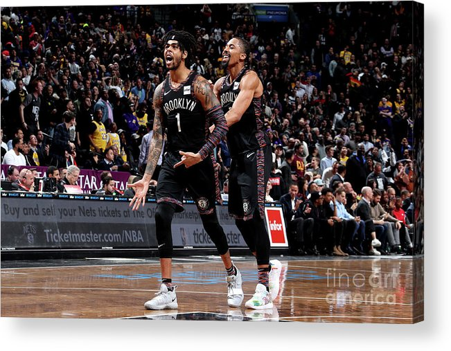 Nba Pro Basketball Acrylic Print featuring the photograph D'angelo Russell by Nathaniel S. Butler