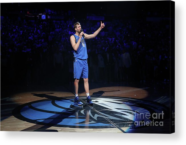Nba Pro Basketball Acrylic Print featuring the photograph Dirk Nowitzki by Nathaniel S. Butler