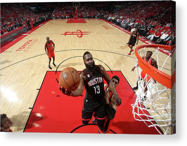 Playoffs Acrylic Print featuring the photograph James Harden by Nathaniel S. Butler