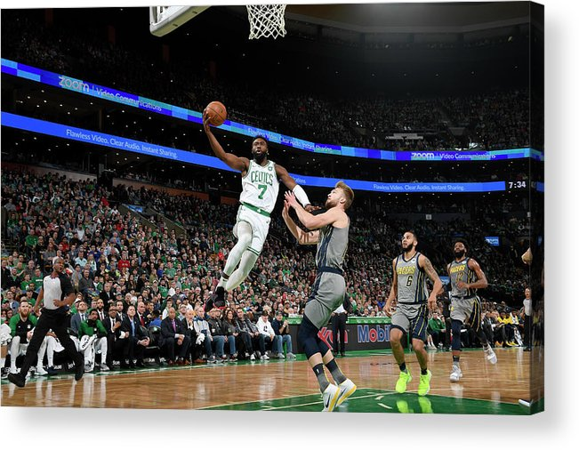 Nba Pro Basketball Acrylic Print featuring the photograph Jaylen Brown by Brian Babineau