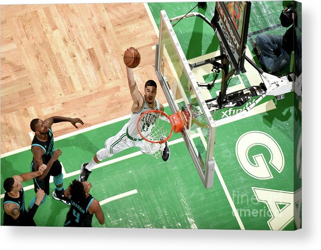 Nba Pro Basketball Acrylic Print featuring the photograph Jayson Tatum by Brian Babineau