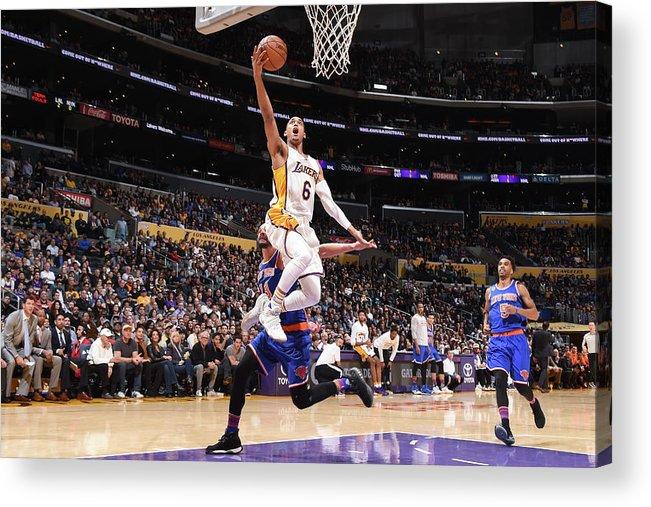 Nba Pro Basketball Acrylic Print featuring the photograph Jordan Clarkson by Andrew D. Bernstein