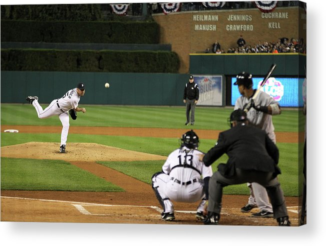 Playoffs Acrylic Print featuring the photograph Justin Verlander by Leon Halip