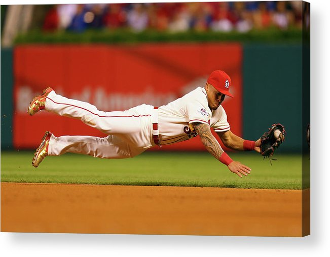 St. Louis Cardinals Acrylic Print featuring the photograph Kolten Wong by Dilip Vishwanat