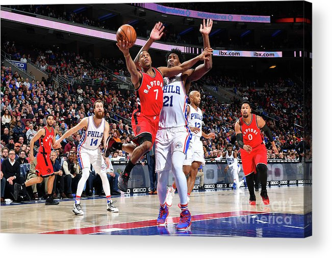 Nba Pro Basketball Acrylic Print featuring the photograph Kyle Lowry by Jesse D. Garrabrant