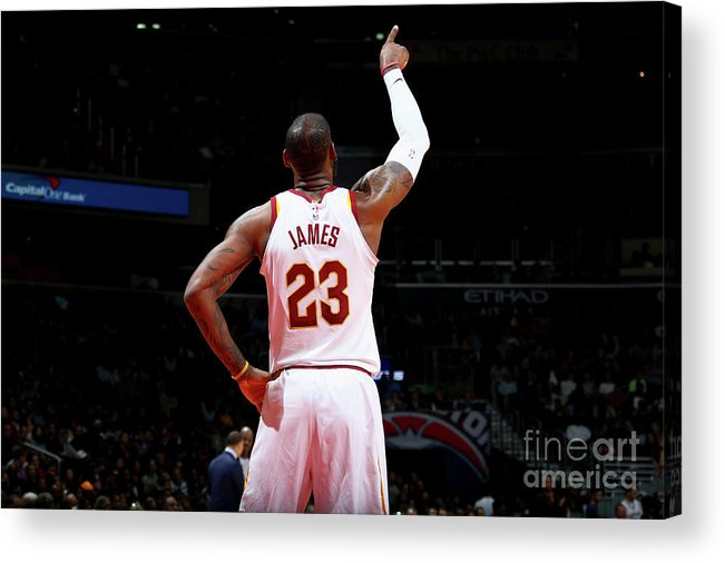 Nba Pro Basketball Acrylic Print featuring the photograph Lebron James by Ned Dishman