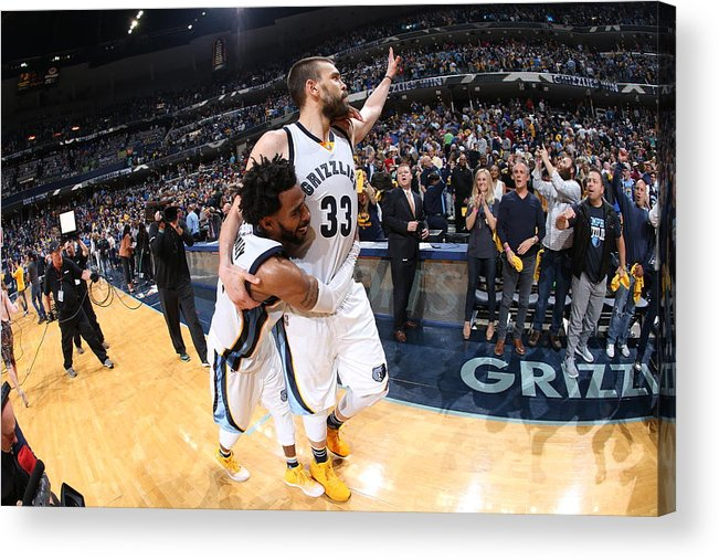 Playoffs Acrylic Print featuring the photograph Mike Conley by Joe Murphy