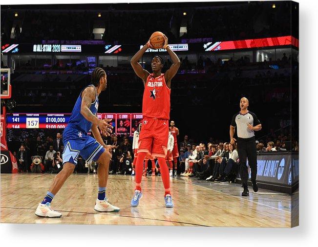 Nba Pro Basketball Acrylic Print featuring the photograph Pascal Siakam by Jesse D. Garrabrant