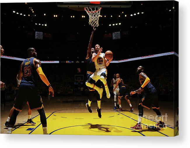 Playoffs Acrylic Print featuring the photograph Stephen Curry by Garrett Ellwood