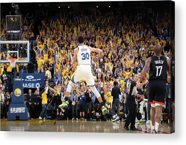 Playoffs Acrylic Print featuring the photograph Stephen Curry by Joe Murphy