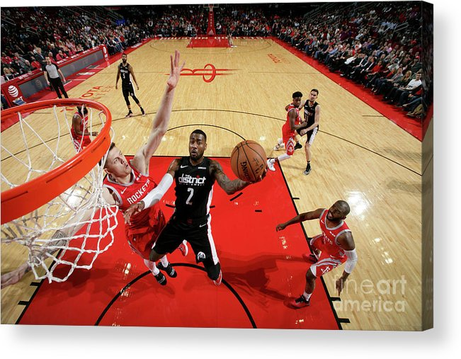 Nba Pro Basketball Acrylic Print featuring the photograph John Wall by Ned Dishman