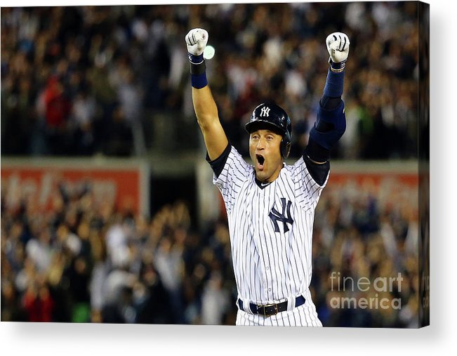 Ninth Inning Acrylic Print featuring the photograph Derek Jeter by Al Bello